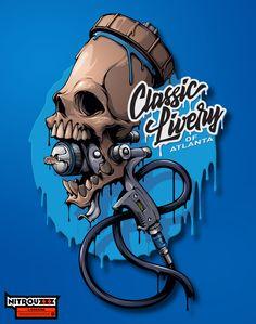 ArtStation - T-shirt design for Classic Livery of Atlanta, Andrey Pridybaylo Painting Logo, Car Painting, Graffiti Drawing, Graffiti Art, Arte Lowrider, Custom Motorcycle Paint Jobs, Tattoo Lettering Styles, Art Jokes, Snake Art