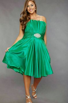 a9086494f4fee Stunning Plus Size Cocktail Dresses Ideas   Taffeta Ruched Strapless Cheap Emerald  Plus Size Short Prom Dresses