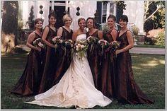 Brides Bridesmaids Blooms Foucus On Shades Of Brown 10 20 Cream Weddingwedding