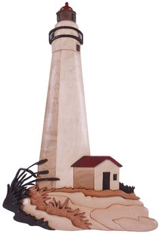 Fort Gratiot Lighthouse Intarsia by Kathy Wise. For pattern go to link Intarsia Woodworking, Woodworking Patterns, Woodworking As A Hobby, Intarsia Wood Patterns, Wood Images, Scroll Saw Patterns, Welding Art, House Wall, Wood Creations