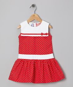 Take a look at this Red Polka Dot Sailor Dress - Toddler & Girls by Monday's Child on #zulily today!