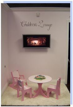 Cute idea for a shop to entertain the children while mommy shops!