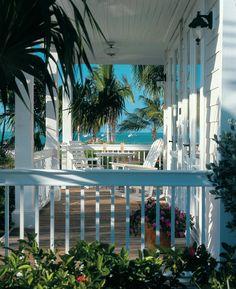 Two Bedroom Cottage Porch - Sunset Key Guest Cottages, Westin Resort - Key West, Florida Cottage Porch, Coastal Cottage, Coastal Homes, Coastal Living, House Porch, Beach Homes, Cottages By The Sea, Beach Cottages, Luxury Cottages