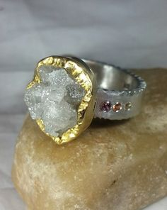 Huge diamond Ring 8.5  Carat Rough  Diamond by EarthDiamond