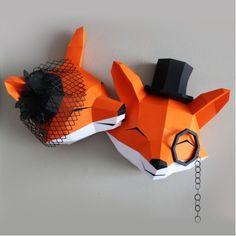 3d Paper Art, Paper Crafts Origami, Paper Artwork, Origami Art, Diy Craft Projects, Fun Crafts, Diy And Crafts, Cardboard Sculpture, Paper Models