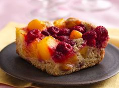 Mango-Raspberry Cobbler