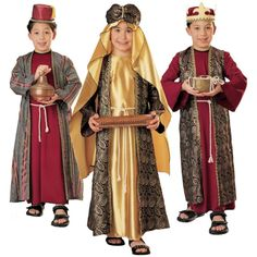 Three Wise Men Costumes for Kids 3 Kings Christmas Nativity Fancy Dress Nativity Costumes, Diy Costumes, Christmas Nativity Scene, Childrens Christmas, Kids Christmas, Christmas Scenes, Christmas Pageant, Christmas Costumes, Children Costumes