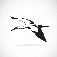 Vector of a flying stork @creativework247