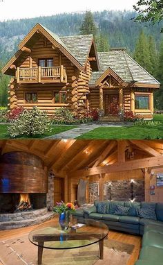 Want to experience the goodness of living in a country-style house and away from the city, and if you love hands-on, log cabin kits is the solution. Log Cabin Living, Small Log Cabin, Log Cabin Homes, Log Cabins, Rustic Cabins, Mountain Cabins, Cabins In The Woods, House In The Woods, Cabins And Cottages