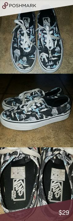 Star Wars Vans sz 4.5 men/6 women Star Wars Vans sz 4.5 men/6 women. Great pre-owned condition! Vans Shoes