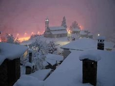 Milia village in Ioannina, Greece Albania, Montenegro, Myconos, Places In Greece, Paradise On Earth, Winter Scenes, Countries Of The World, Great Photos, Beautiful Places