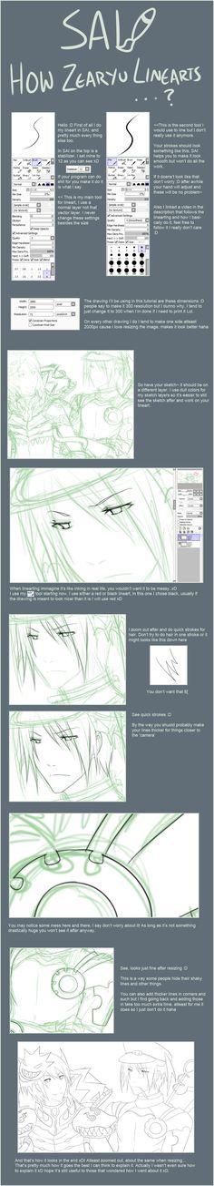 SAI lineart tutorial...ish by zearyu.deviantart.com on @deviantART