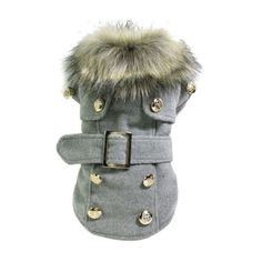 Warm Cotton Winter Pea Coat with Belt