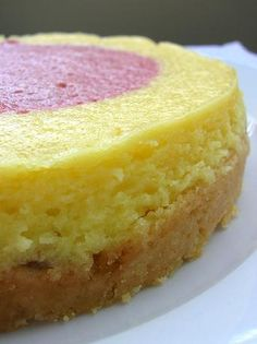 Key Lime Raspberry Bullseye Cheesecake - really the Key Lime Cookie Dough Crust caught my attention