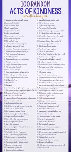 101 Of The Best Random Acts of Kindness Ideas, Free Printable, Acts of Kindness…