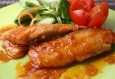 Harcsafilé ázsiai pácban Fish Recipes, Healthy Recipes, Healthy Food, Wok, Stir Fry, Ricotta, Bacon, Sausage, Fries