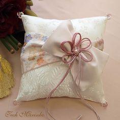 和風リングピロー【結】 Wedding 2017, Wedding Reception, Wedding Rings, Ring Pillows, Lace Pillows, Japanese Wedding, Japanese Style, Wedding Kimono, Pillow Box