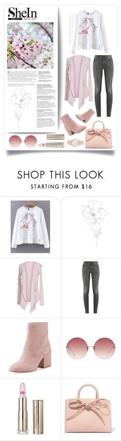 """""""24.04.2017"""" by renyic ❤ liked on Polyvore featuring WithChic, Blume, Velvet by Graham & Spencer, Yves Saint Laurent, Sam Edelman, Linda Farrow, Mansur Gavriel, Nine West, outfits and women"""