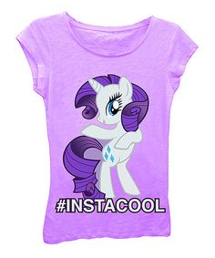 ,;ll;Take a look at this Lilac My Little Pony '#instacool' Cap-Sleeve Tee - Girls on zulily today!