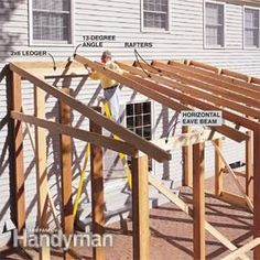 Build the roof for the screened in porch.