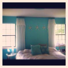 My beachy master bedroom