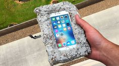 Can Concrete Protect iPhone 6s from 100 FT Drop Test? - GizmoSlip Are you serious right now