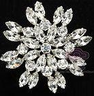 Bridal Crystal Rhombus Cake Dress Scarf Decoration Rhinestone Brooch Pin PI542 | eBay