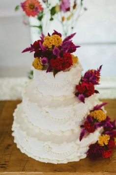 Dark Floral Wedding Cake