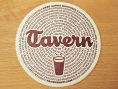 Tavern Coasters by Chandler Van De Water