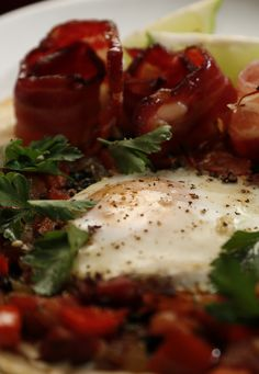 Ali and Samuel's Bacon Huevos Rancheros with Bloody Mary Salsa from season 4 of MKR: http://gustotv.com/recipes/breakfast/bacon-huevos-rancheros-bloody-mary-salsa/
