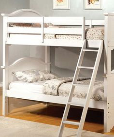 This White Simple Twin Bunk Bed is perfect! #zulilyfinds
