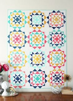 Rhinestones Quilt Pattern-PDF by HelloMellyDesigns on Etsy