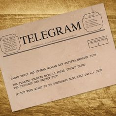 vintage telegram printable save the date by idoityourself on Etsy, $20.00