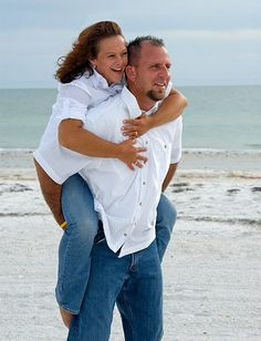 Here's a couple that still knows how to have fun. Part of a family beach shoot, I isolated these two and asked them to do a pose that is normally reserved for engagement photos and they loved it! Look at that expression on her.     find the right girl at http://dating.bestonlineproducts.net/