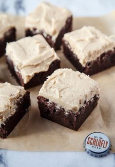 Brownies made with beer! @dessertfortwo
