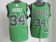 b8c200230 Boston Celtics Jersey 34 Paul Pierce Revolution 30 Swingman Green With  Black Jerseys