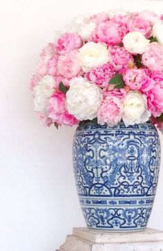 Perfect flowers and ginger jar!