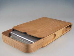 Sperrholz-Laptop-Hülle, für zu Hause zum Staub fern halten ziemlich cool.