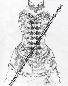 steampunk corset by colorblinddragon on Etsy