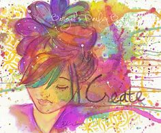 Of  Splatters, Colors and the Process of Allowing!