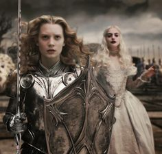 Alice in Wonderland and the White Queen