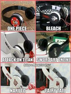 Omg I totally want the attack on titan, fairy tail, and sword art online ones