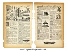 Vintage French Dictionary Collage Sheet- Free to use Make Your Own Collage, Cards For Friends, Friend Cards, Decoupage Paper, Decoupage Ideas, French Dictionary, Printable Art, Free Printables, Old Paper