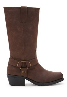 Faux Leather Moto Boots, $42 | 36 Gorgeous Boots For Women With Wide Calves Size 7