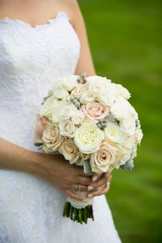 Blush and Ivory Rose Bouquet   Sara Wight Photography https://www.theknot.com/marketplace/sara-wight-photography-brooklyn-ny-239955   Forever in Bloom
