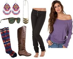 Love off the shoulder tops & tall boots