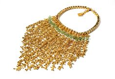 Stunning statement brass necklace, fashion jewellery, fringe necklace, women's designer jewellery on Etsy, $414.06 CAD