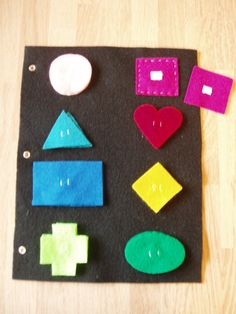 Shapes Felt  Quiet Book Page Ages 3 and up. via Etsy.