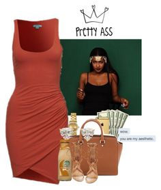 """'Girl you got all that ahh, whatchu gon do w/ that?'"" by muvaaliyah ❤ liked on Polyvore featuring Goldgenie, Movado, MICHAEL Michael Kors, Miss Selfridge and Steve Madden"