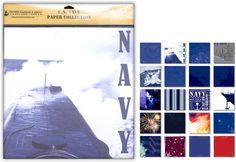 Uniformed Scrapbooks of America - 12 x 12 Paper Pack - U.S. Navy at Scrapbook.com $11.99
